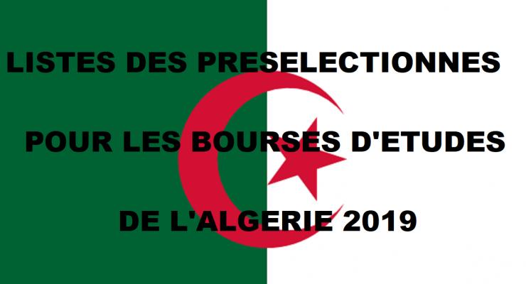 Listes des bacheliers présélectionnés pour les bourses d'études de l'Algérie