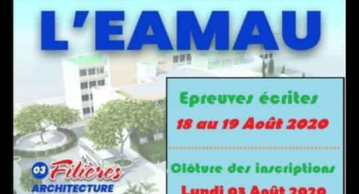 Nouvelles dates pour le concours d'entrée à l'EAMAU