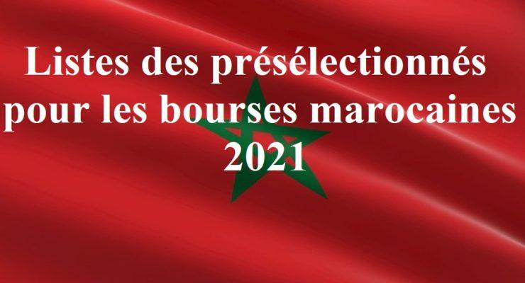 Listes des présélectionnés pour les bourses marocaines 2021